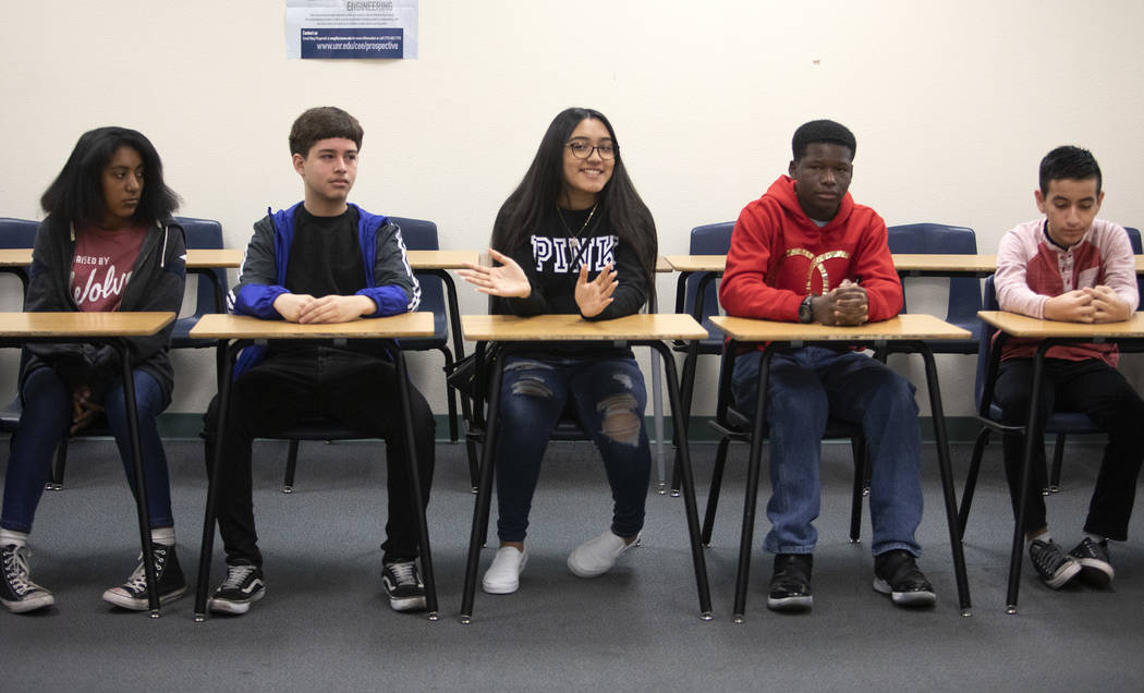 Students from West Preparatory Academy voice concerns about their education at a roundtable for ...