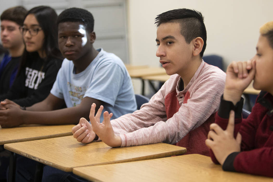 Salvador Arista, and 8th grader at West Preparatory Academy, expresses concerns with the educat ...