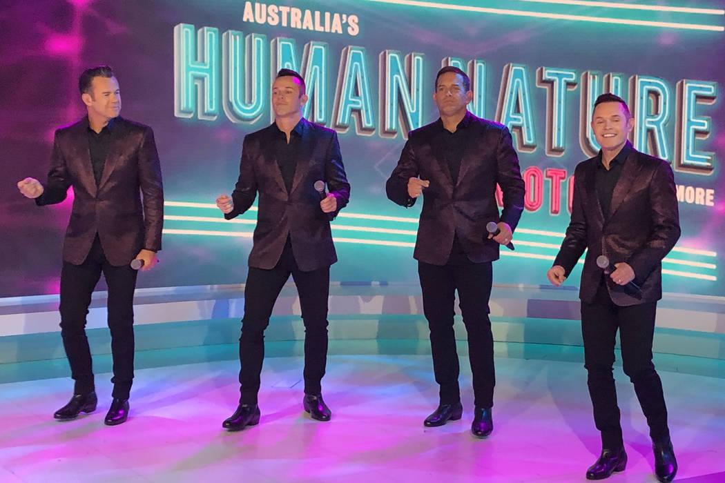 Members of The Venetian Sands Showroom headliners Human Nature, from left, Phil Burton, Andrew ...