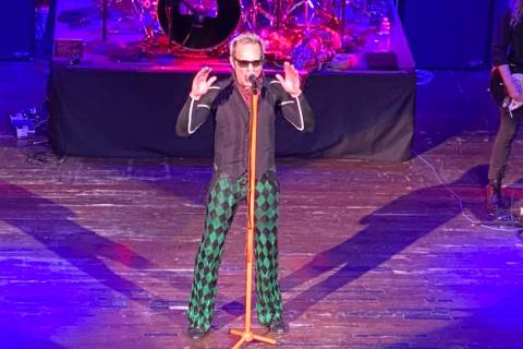 David Lee Roth performs at House of Blues at Mandalay Bay on Friday, Jan. 10, 2020. (John Katsi ...