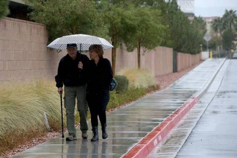 Rain could fall on portions of the Las Vegas Valley on Thursday, according to the latest Nation ...