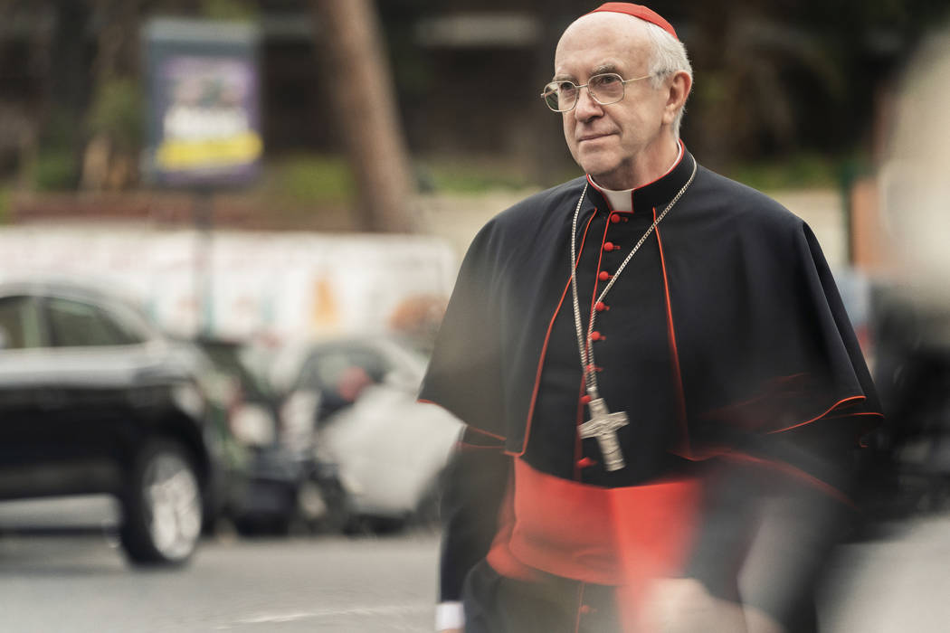 This image released by Netflix shows Jonathan Pryce as Cardinal Bergoglio in a scene from &quot ...