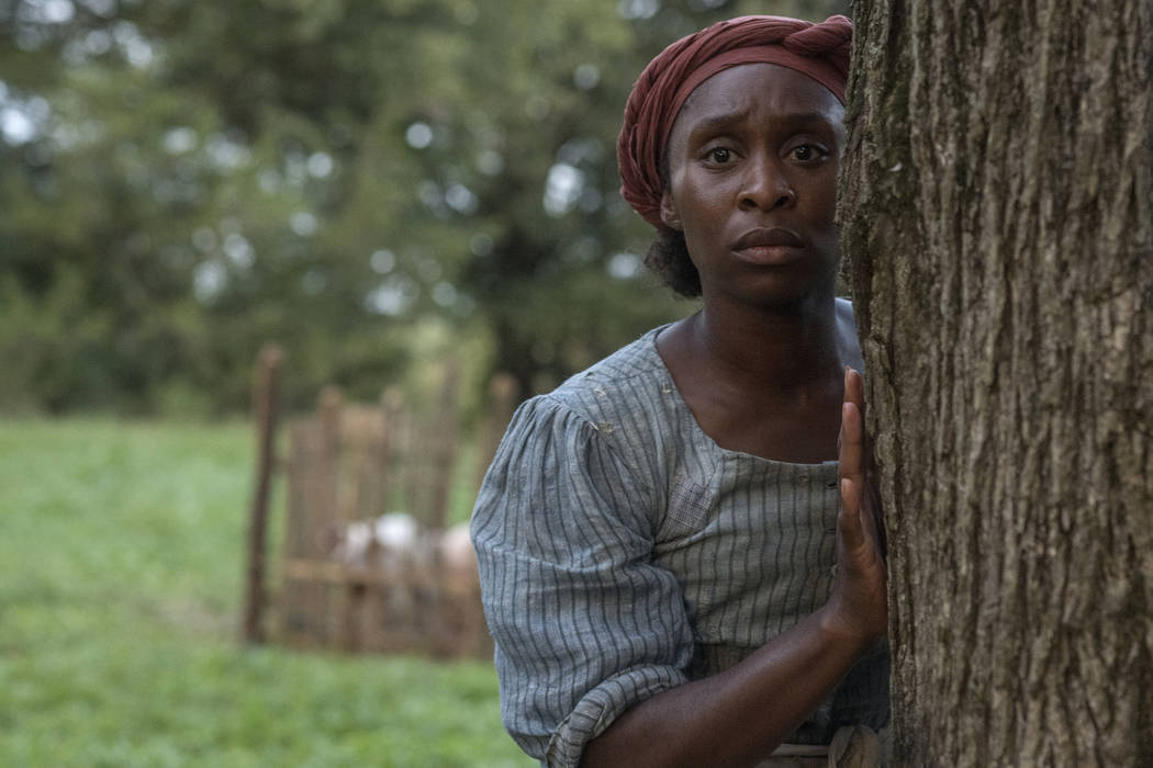 This image released by Focus Features shows Cynthia Erivo as Harriet Tubman in a scene from &qu ...