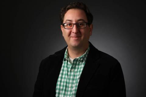 David Schoen, reporter, poses for a portrait at the Las Vegas Review-Journal photos studio, Las ...