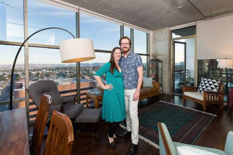 Drs. Denise LaBelle and Ryan Hudson are raising their growing family at Juhl in downtown Las Ve ...