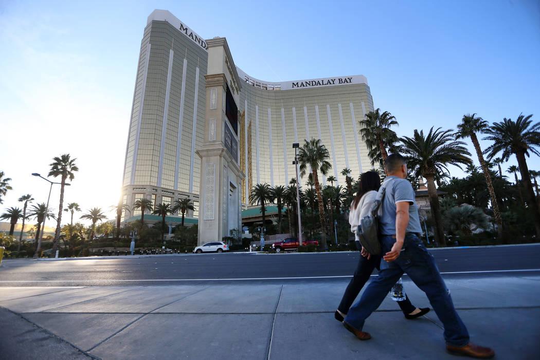 Mandalay Bay casino-hotel in Las Vegas, Tuesday, Jan. 14, 2020. (Erik Verduzco / Las Vegas Rev ...