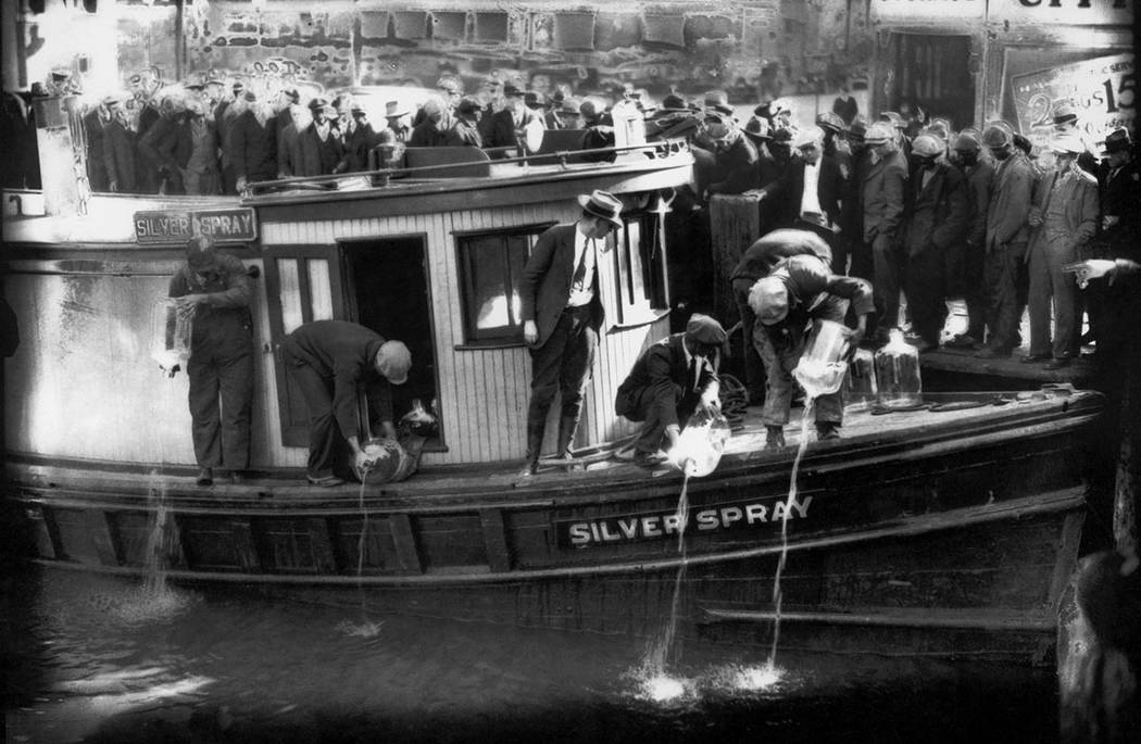 In this 1922 file photo, spectators gather by the side of captured rum runner, Silver Spray, as ...