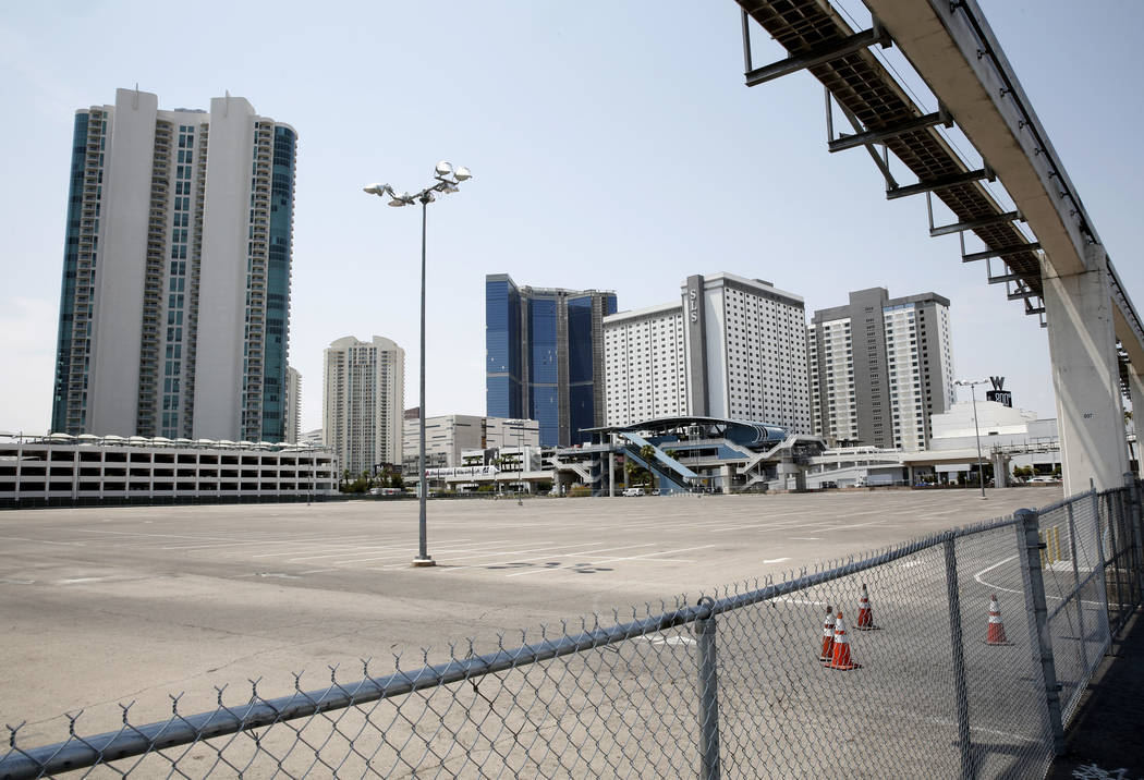 A vacant property at the corner of Sahara Avenue and Paradise Road photographed on Tuesday, Jul ...