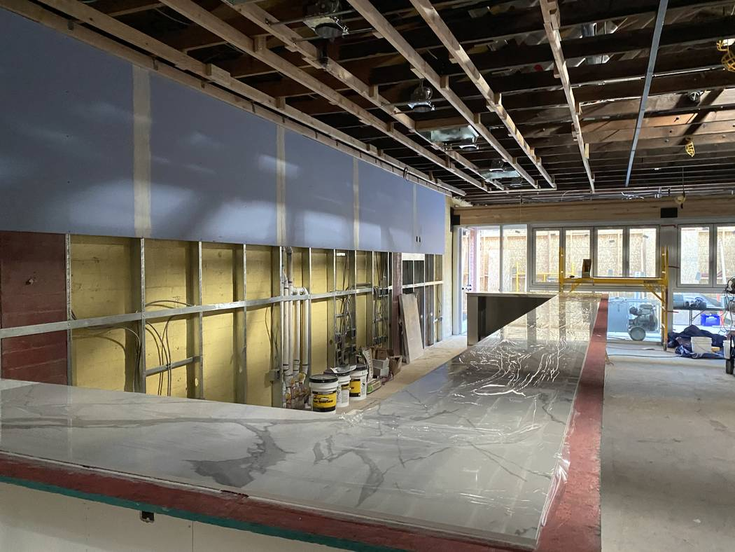What will be the bar area at Main St. Provisions. (Al Mancini/Las Vegas Review-Journal)