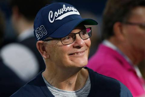 Dallas Cowboys defensive coordinator Rod Marinelli is pictured before an NFL football game agai ...