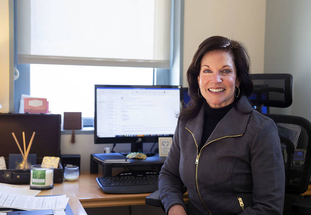 Mary Beth Sewald, president and CEO of the Las Vegas Chamber of Commerce, poses in her office a ...