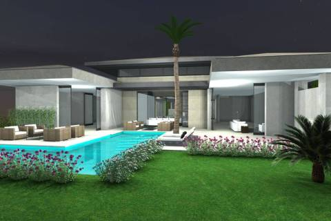 This artist's rendering shows Growth Luxury Homes' new The Canyon Collection in Southern Highla ...