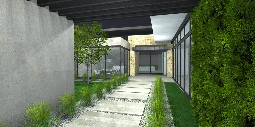 This artist's rendering shows one of the home's entrance. (Growth Luxury Homes)