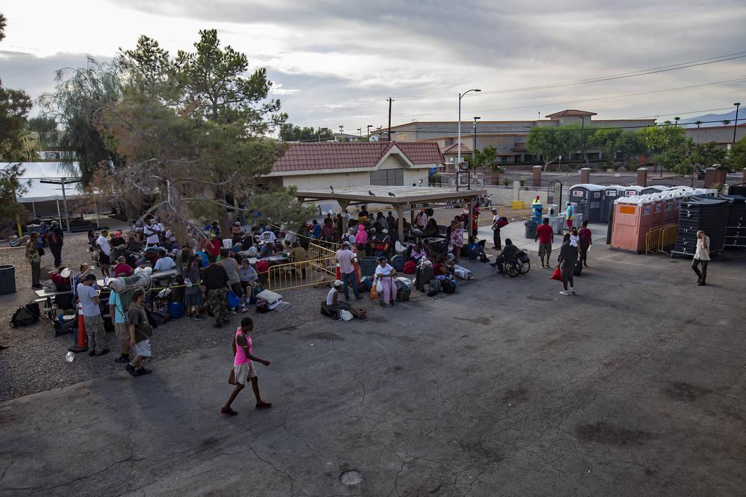 The Courtyard Homeless Resource Center in Las Vegas, Wednesday, July 24, 2019. (Rachel Aston/La ...