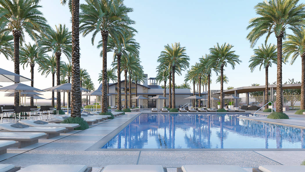 This artist's rendering shows the 10,000-square-foot recreation center at Del Webb's new age-qu ...