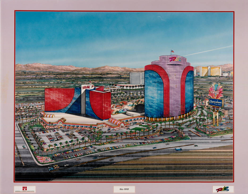 This Aug. 7, 1995 rendering shows the Rio in Las Vegas. (Rio)