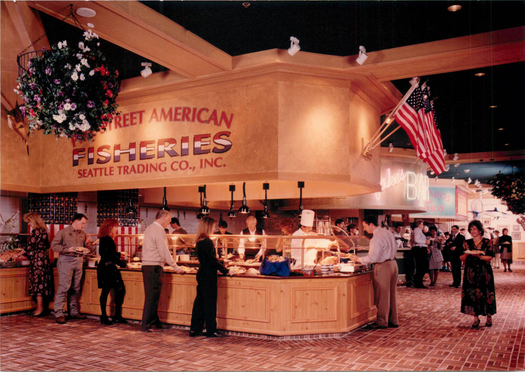 In this 1997 file photo shows Village Seafood Buffet in the Rio in Las Vegas. (Las Vegas Review ...