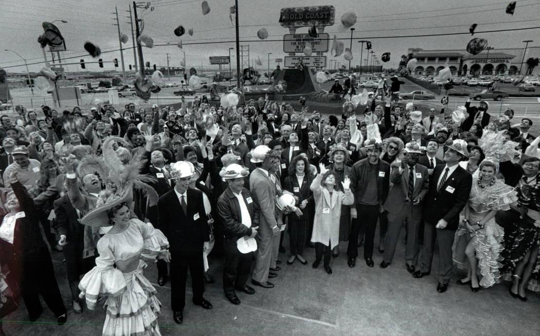 This Feb. 9, 1989, photo shows groundbreaking ceremonies of Rio Vegas Hotel in Las Vegas. (Las ...