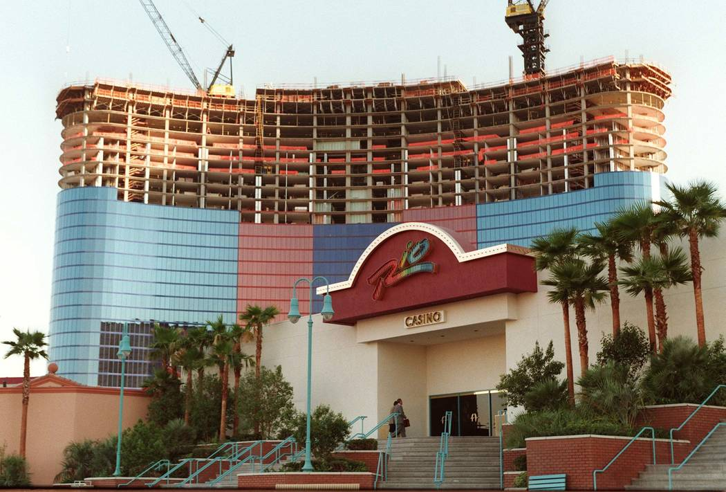 This August 1996, file photo shows the Rio Hotel and a new tower under construction. (Las Vega ...