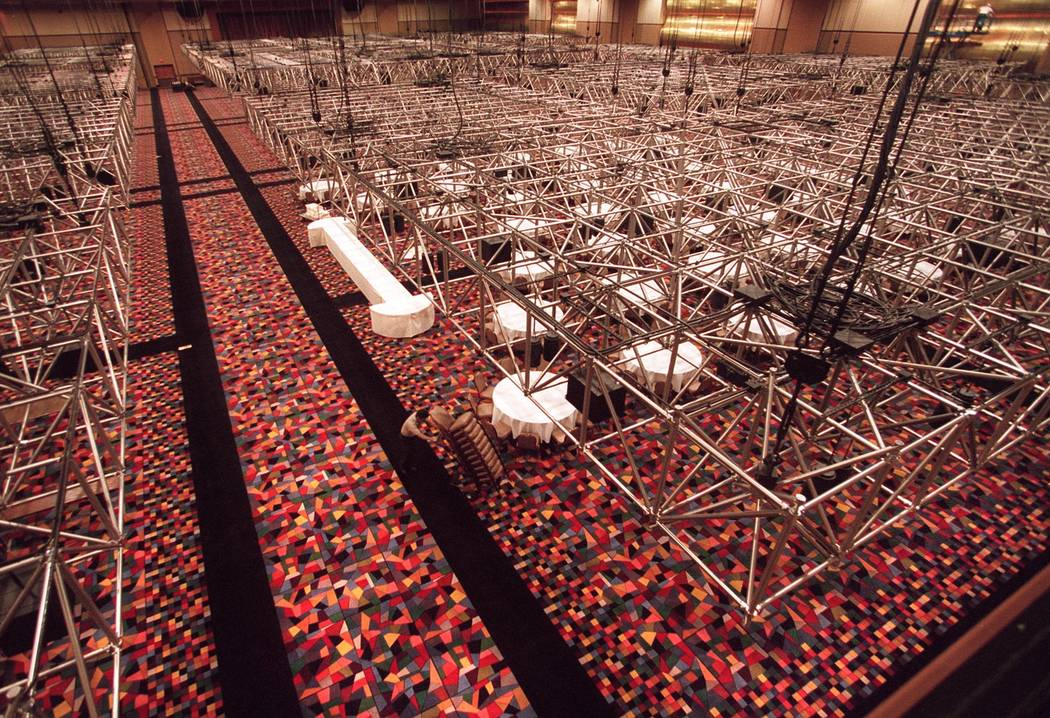 This March 18, 1999, file photo shows Rio Hotel Convention/Special events center with ceiling ...