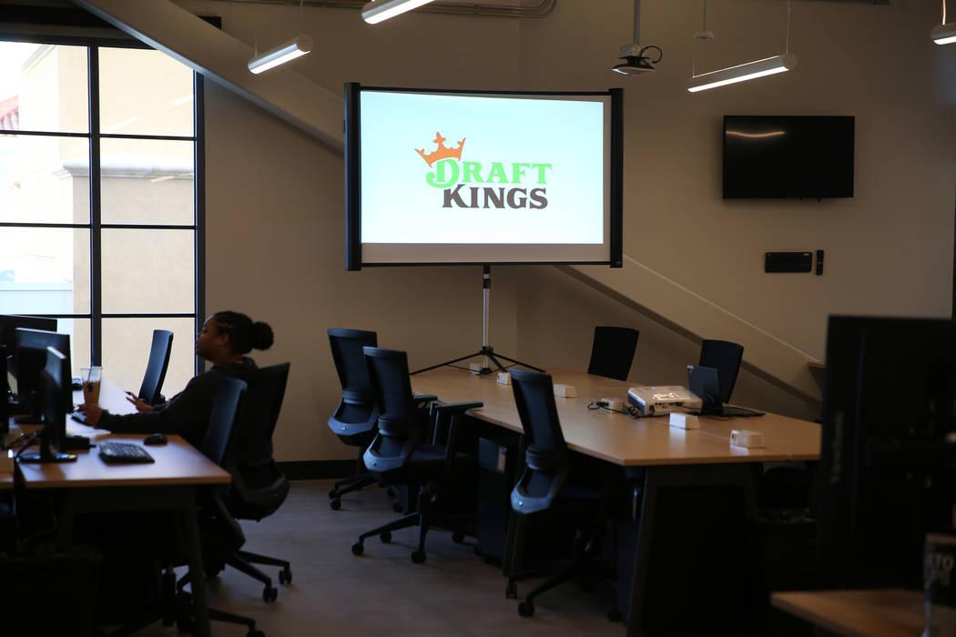 The DraftKings office at Town Square in Las Vegas, Wednesday, Jan. 15, 2020. (Erik Verduzco / L ...