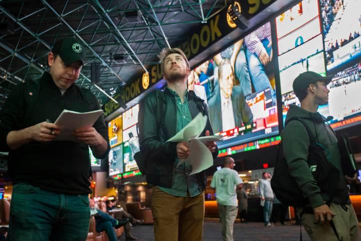 Westgate sportsbook in Las Vegas. Thursday, Jan. 23, 2020. (Benjamin Hager/Las Vegas Review-Jou ...