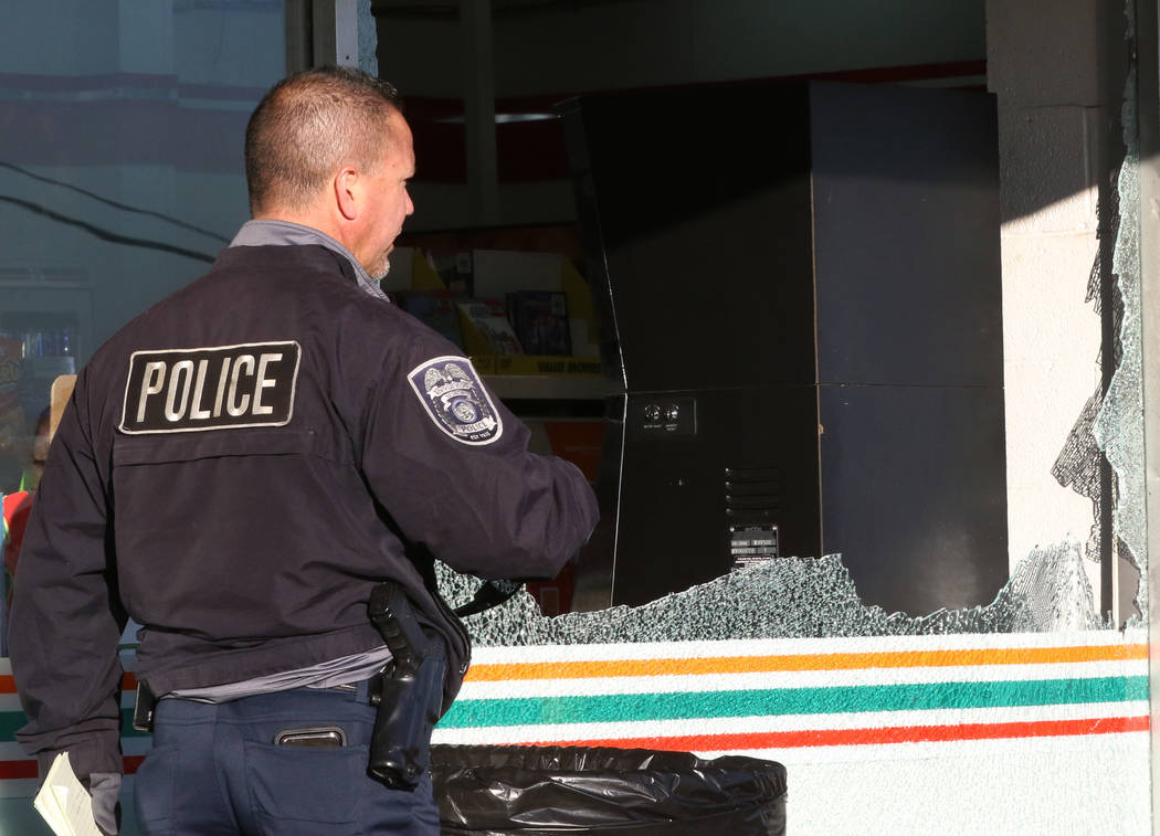 A North Las Vegas police is investigating after a convenience store clerk who was stabbed by a ...