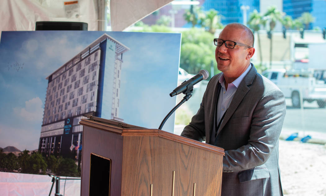 CAI Investments founder Chris Beavor, seen here at a groundbreaking ceremony for a Las Vegas ho ...