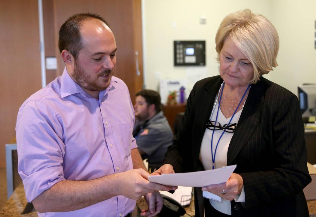 Kenny Belknap, a teacher at Del Sol Academy and Clark County Education Association board member ...