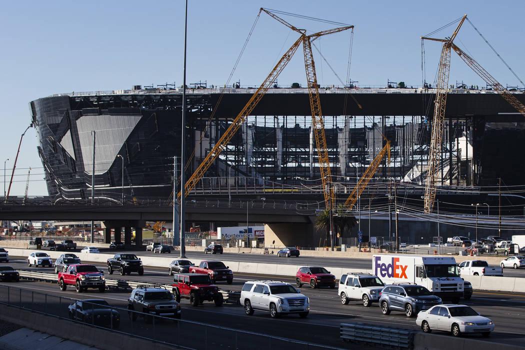 Raiders personal seat licenses for Allegiant Stadium have sold out. (Michael Quine/Las Vegas Re ...
