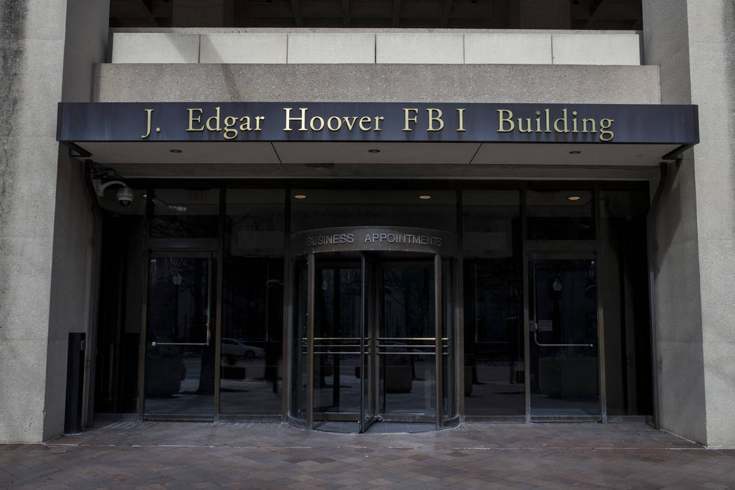 FILE - In this March 4, 2019, file photo, the J. Edgar Hoover FBI Building is seen in Washingto ...