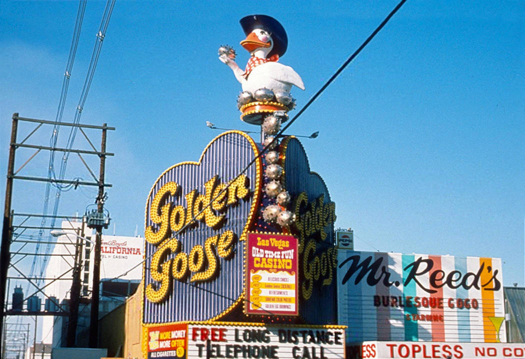 The Golden Goose once stood upon the Golden Goose casino. DTP