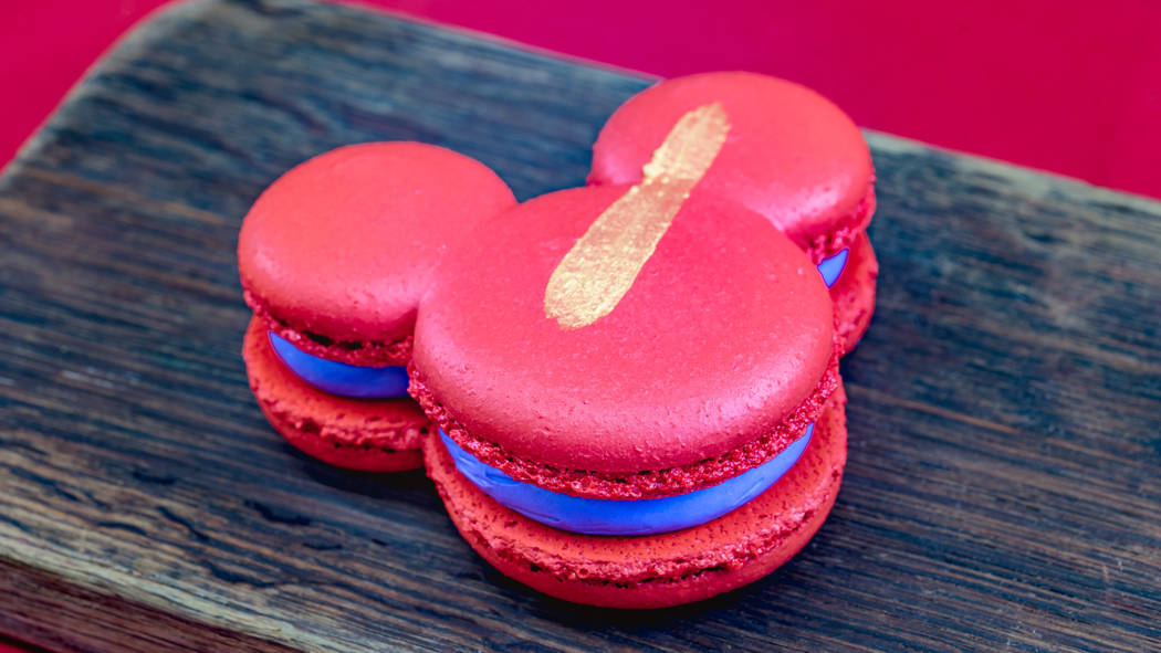 The purple sweet potato Mont Blanc macaron can be found at Disney California Adventure Park as ...