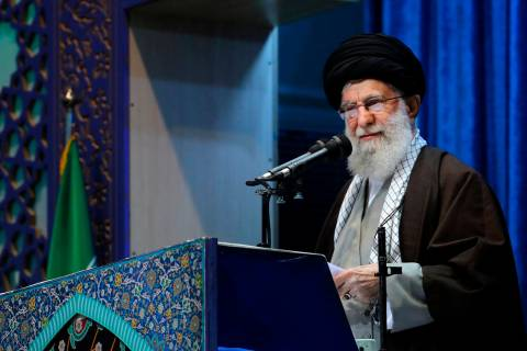 In this photo released by an official website of the office of the Iranian supreme leader, Supr ...