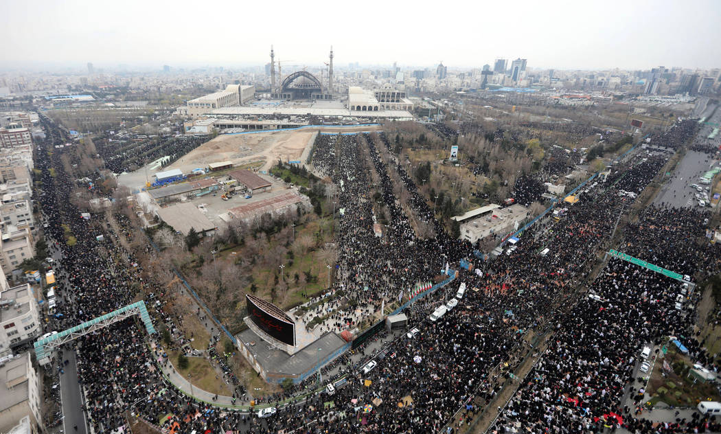 In this aerial picture released by the official website of the office of the Iranian supreme le ...