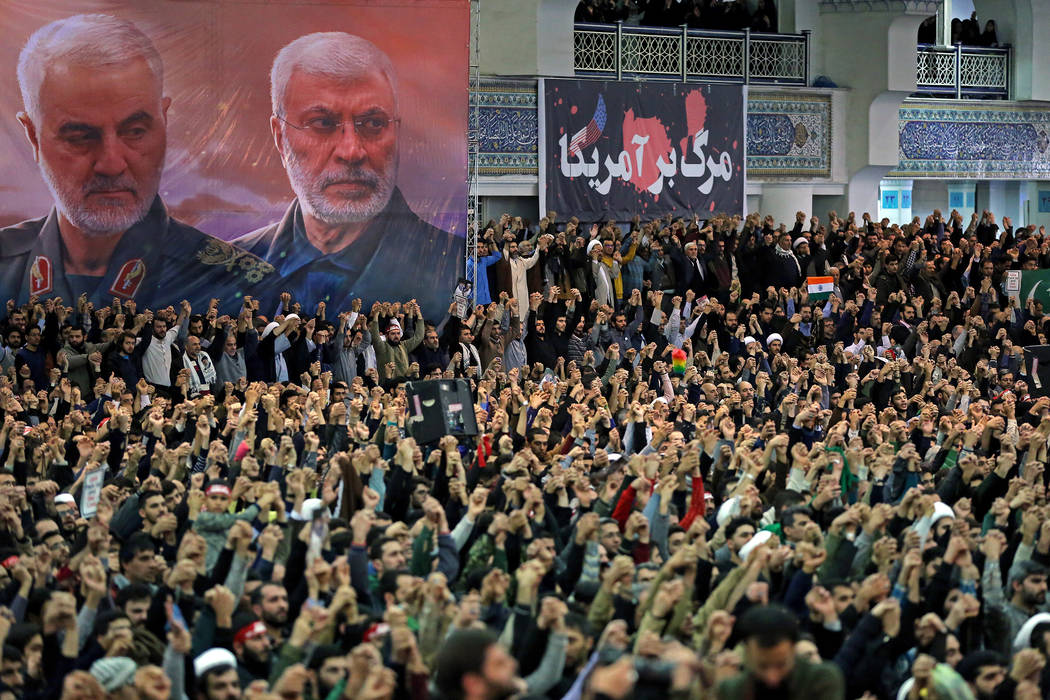 In this picture released by the official website of the office of the Iranian supreme leader, w ...