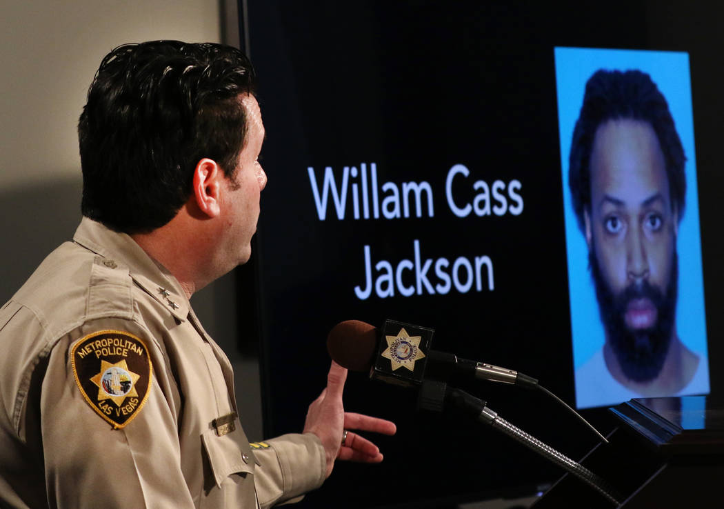 William Cass Jackson's, 32, accused of shooting his mother three times before firing at police ...