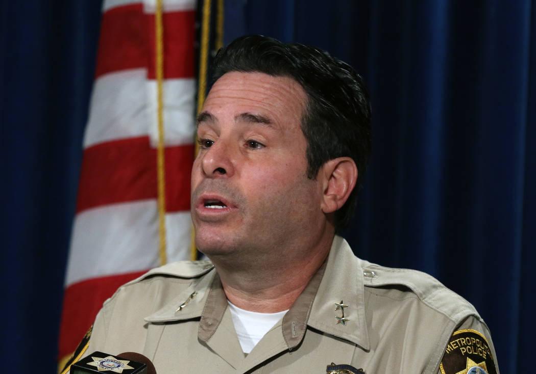Las Vegas Metropolitan Police Assistant Sheriff Brett Zimmerman gives briefing on Friday, Jan. ...