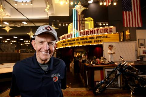 "Houston furniture store owner Jim ""Mattress Mack"" McIngvale, 68, at his main store Tu ..."