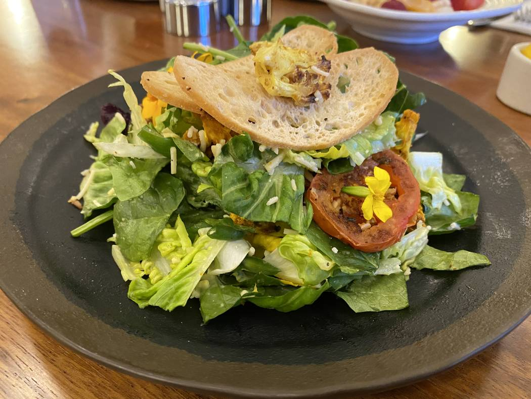 Roasted cauliflower Caesar salad at Turth & Tonic. (Al Mancini/Las Vegas Review-Journal)