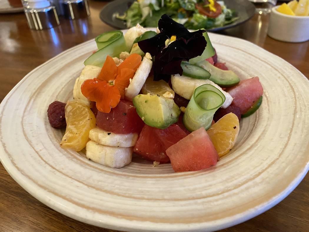 Watermelon salad at Turth & Tonic. (Al Mancini/Las Vegas Review-Journal)
