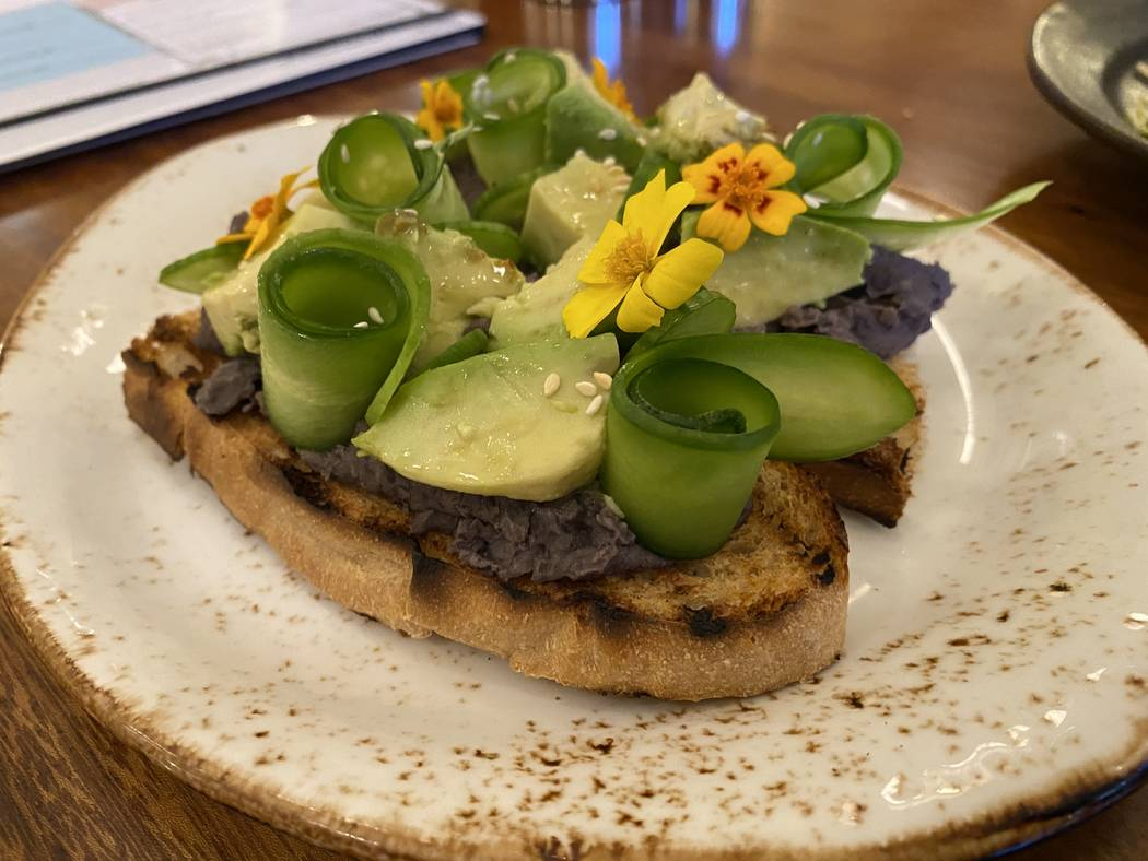 Black bean hummus toast at Turth & Tonic. (Al Mancini/Las Vegas Review-Journal)