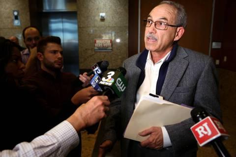 John Vellardita, executive director of the Clark County Education Association talks to the news ...