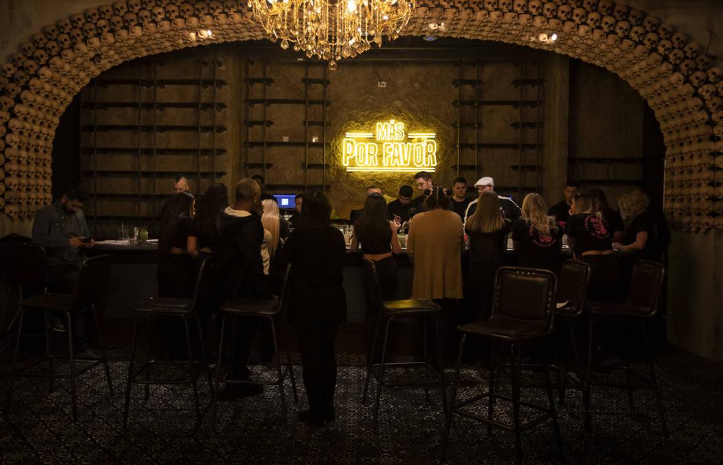 Employees participate in a bar training at the speakeasy bar in Más Por Favor Taqueria y Tequi ...