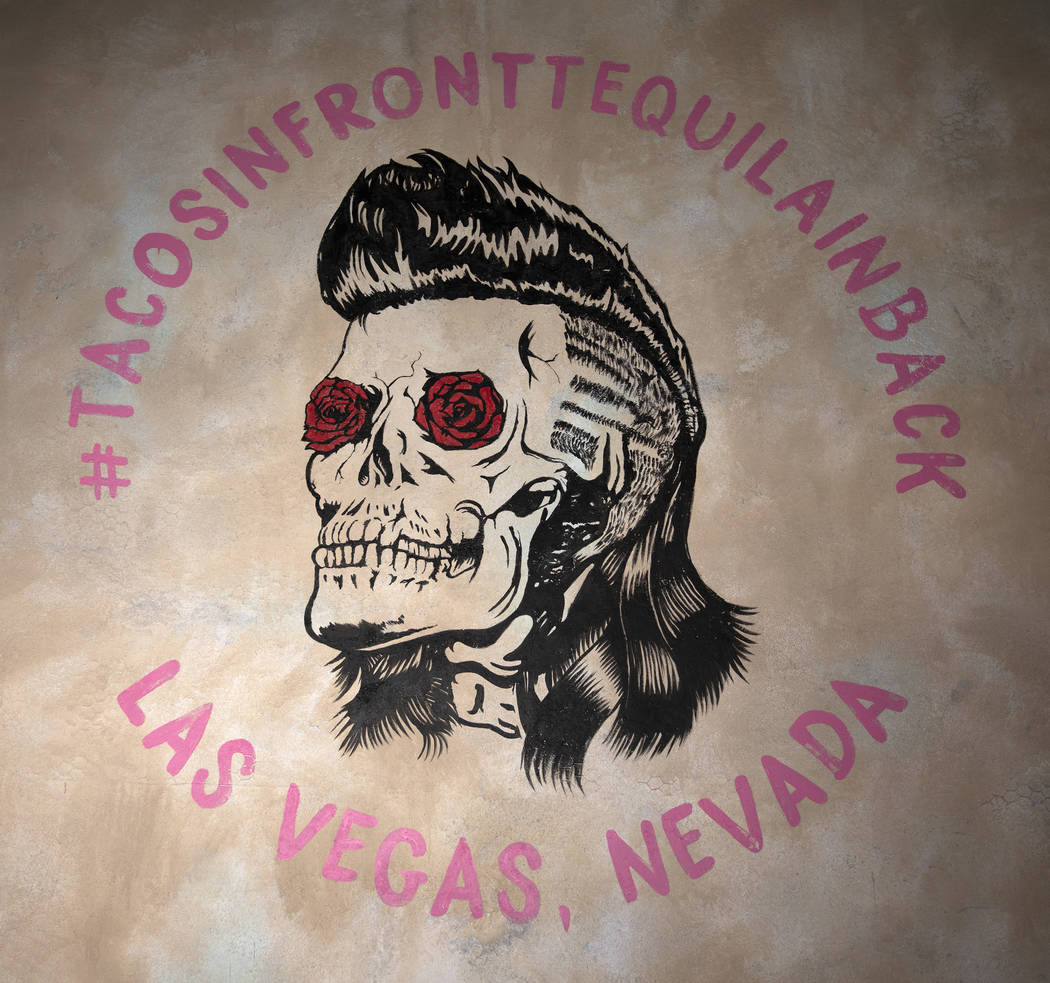 A mural by artist Koa Paden is painted on the wall at Más Por Favor Taqueria y Tequila on Frid ...