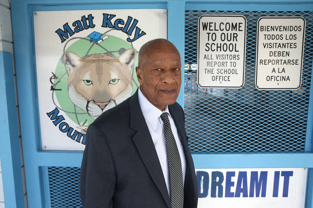 Robert Green, 86, a Las Vegas resident and close confidante of Martin Luther King Jr., at Matt ...