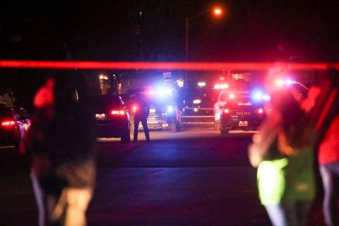 Police investigate after four people were killed and a fifth person was injured in a shooting a ...