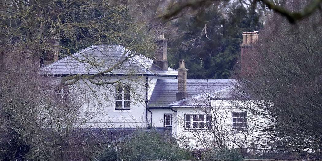 In this Jan. 4, 2020 file photo, Frogmore Cottage, the home of Prince Harry and Meghan, Duchess ...