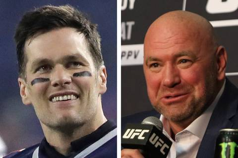 UFC president Dana White, right, said he believes there is a real possibility he will be watchi ...