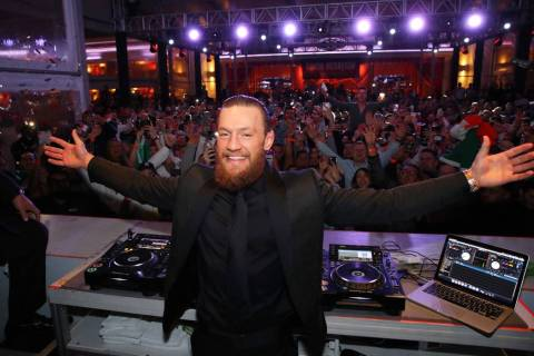 Conor McGregor is shown at Encore Beach Club at Night following his UFC 246 victory over Donald ...